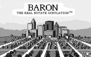 Baron: The Real Estate Simulation Title screen
