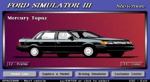 Ford Simulator III Car showroom.