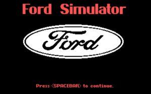 Ford Simulator Title Screen
