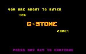 G-Stones III This screen is displayed as the game loads