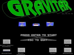Gravitar The game's title screen