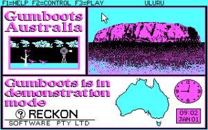 Gumboots Australia Title screen.