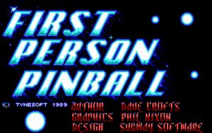 1st Person Pinball Title Screen