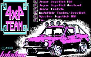 4x4 Team Main menu