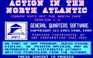 Action in the North Atlantic Title screen