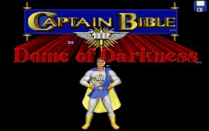 Captain Bible in the Dome of Darkness Title screen