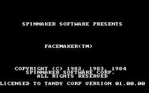 Facemaker Title screen