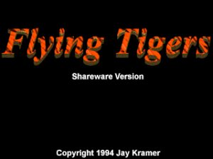 Flying Tigers Title screen.