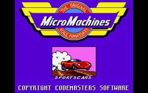 Micro Machines Title screen