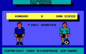 Microprose Pro Soccer screenshot #1