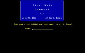 Star Ship Command screenshot #1