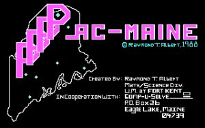 Pac-Maine Title screen