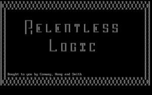Relentless Logic Title screen.