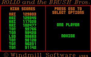 Rollo and the Brush Brothers 'Title' screen