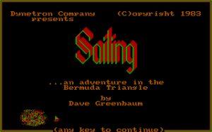Sailing: An Adventure in the Bermuda Triangle Title screen