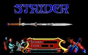 Strider Title screen