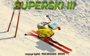 Super Ski III Title Screen