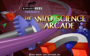The Wild Science Arcade Title screen