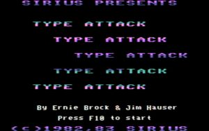Type Attack Title screen