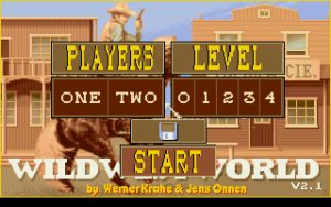 Wild West World Start Screen